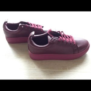 Matt & Nat Burgundy Platform Sneakers